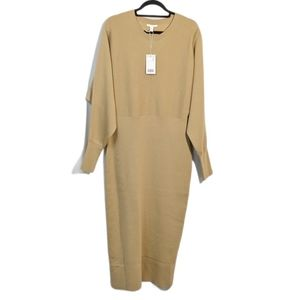 NWT COS Wool Cotton Blend Knit Sweater Dress